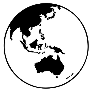 Black And White Clipart Globe
