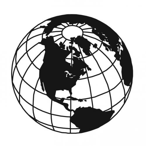 500x500 Clipart Line Drawing Globe