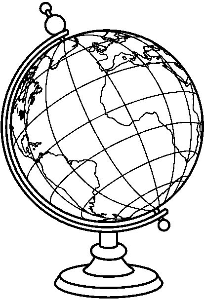 413x608 Free World Globe Clipart Black And White