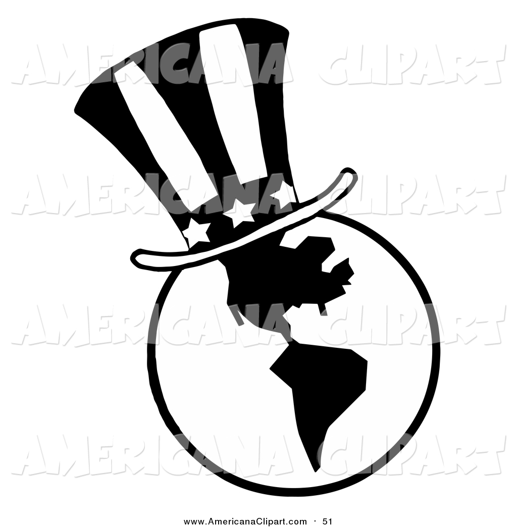 1024x1044 Americana Vector Clip Art Of A Black And White American Top Hat