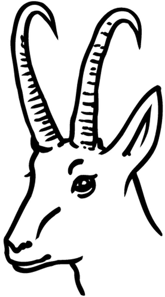 Black And White Clipart Goat