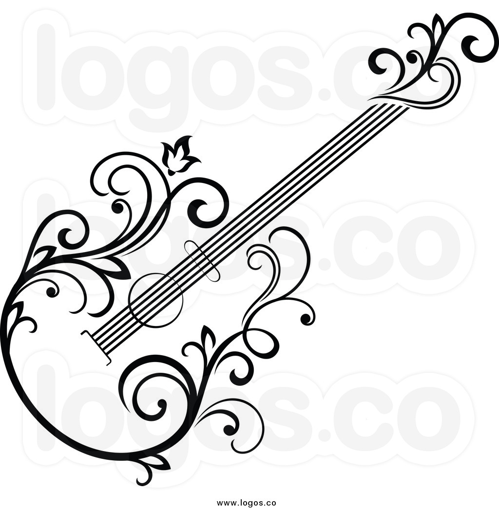 1024x1044 Guitar Black And White Clipart