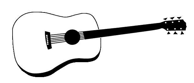 Black And White Clipart Guitar
