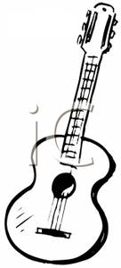 136x300 Guitar Clip Art Black And White Cliparts