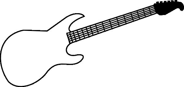 600x284 Guitar Clip Art
