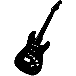 300x300 Guitar Black And White Electric Guitar Clipart Black And White