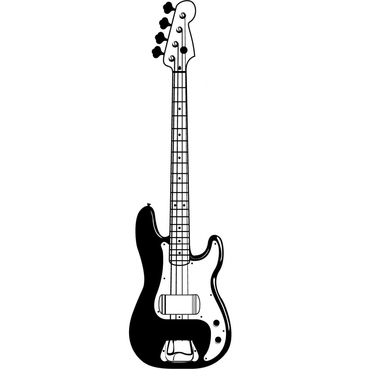 1200x1200 Guitar Black And White Picture Of An Electric Guitar Free Download