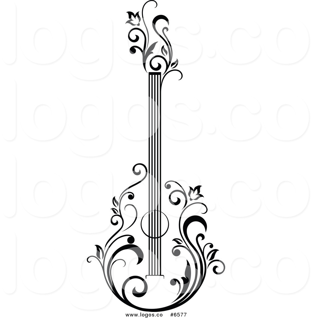 1024x1044 Royalty Free Clip Art Vector Logo Of A Black And White Floral