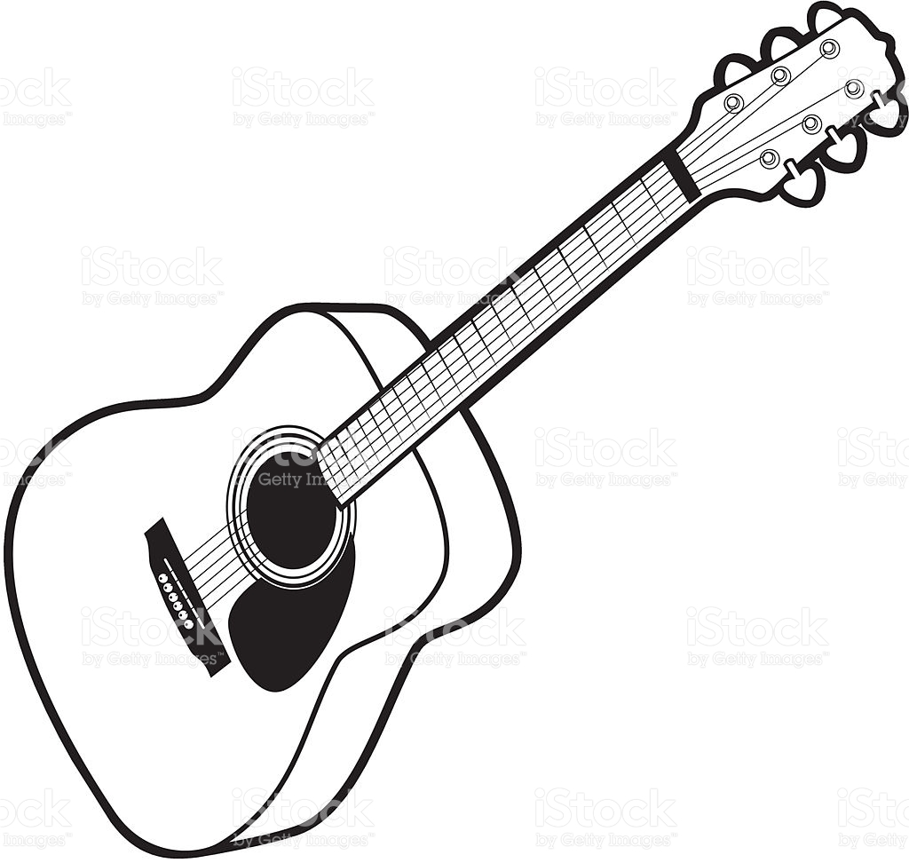 1024x972 Bampw Clipart Guitar