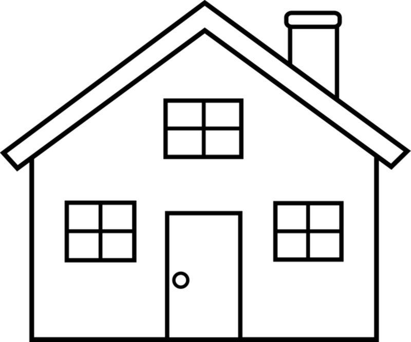 800x666 House Clipart Line Drawing