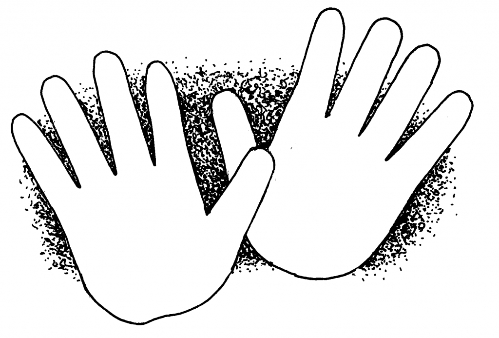 1024x693 Hand Outline Drawing Clip Art Hand Drawing Clipart Clipart Kid