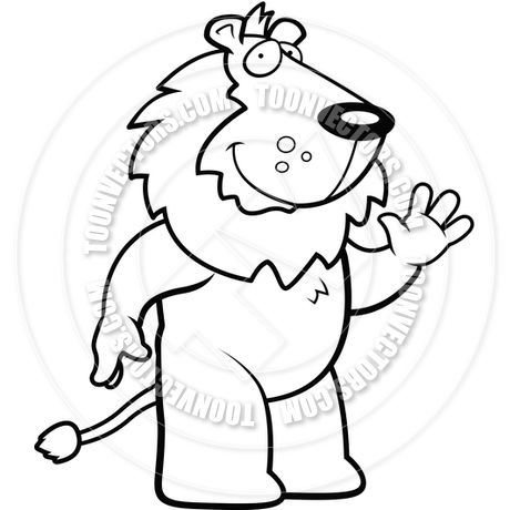 Black And White Clipart Lion