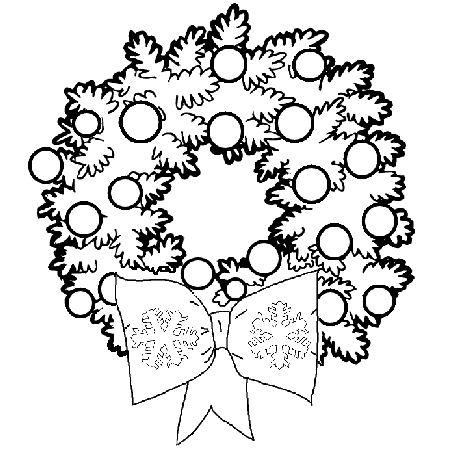 455x455 Christmas Clip Art Christmas Garland Coloring Merry Christmas