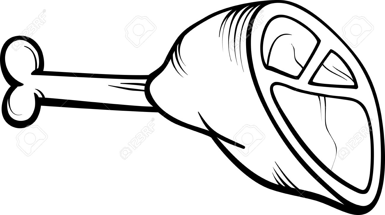 1300x726 Meat Clipart Black And White