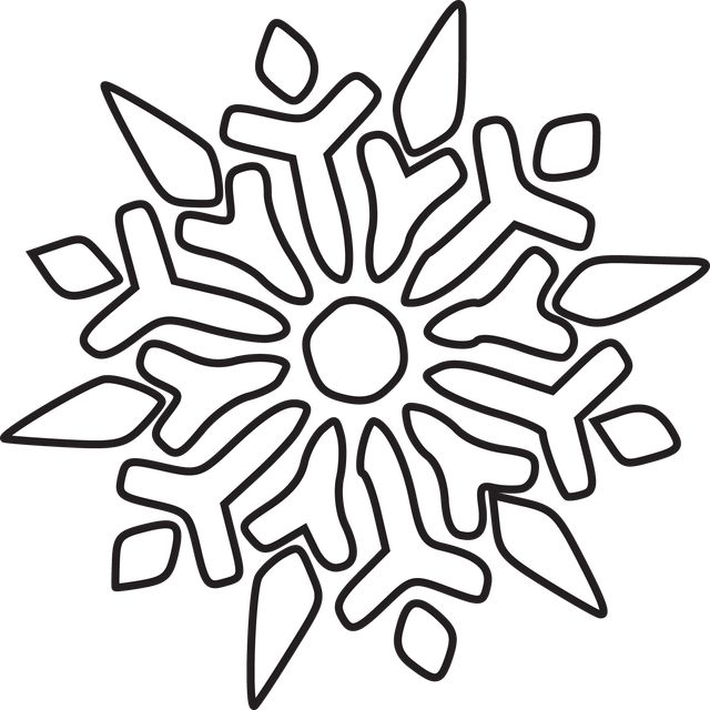 Black And White Clipart Snowflake