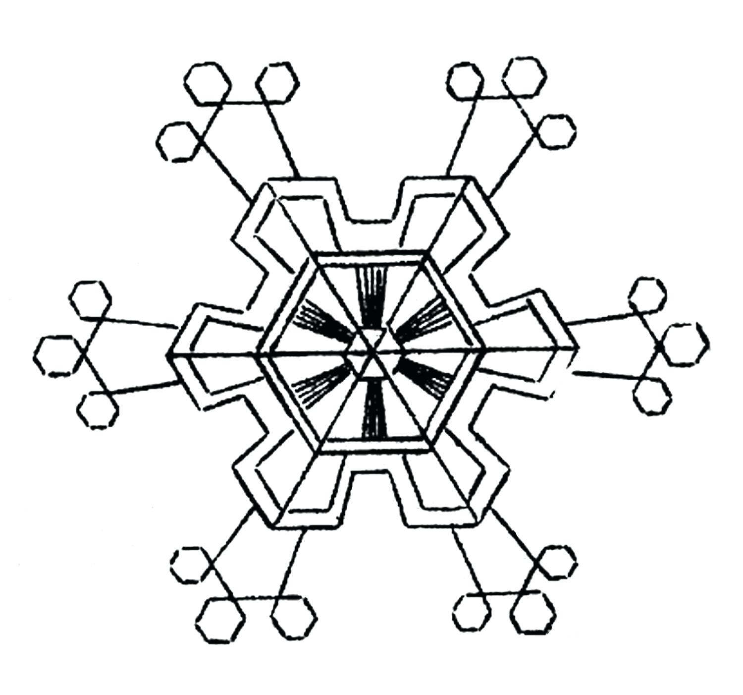 Black And White Clipart Snowflake | Free download best ...