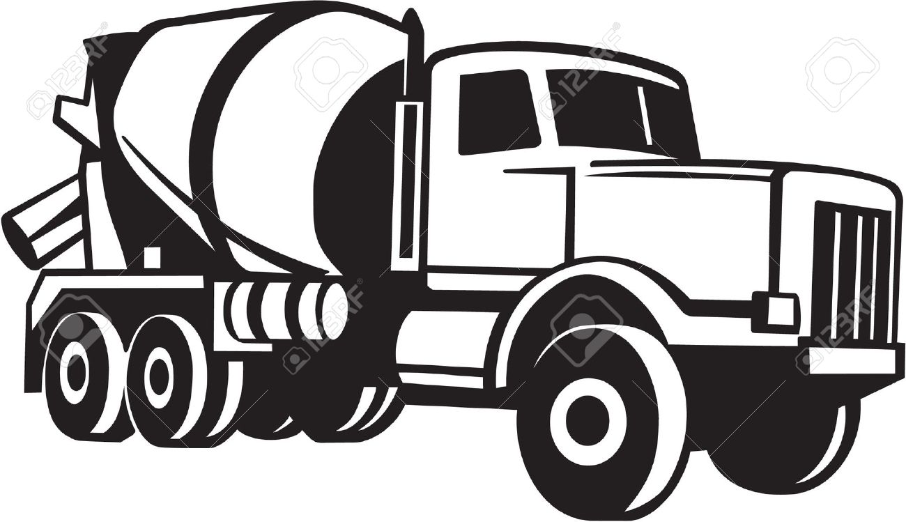 1300x749 Mixer Truck Clip Art