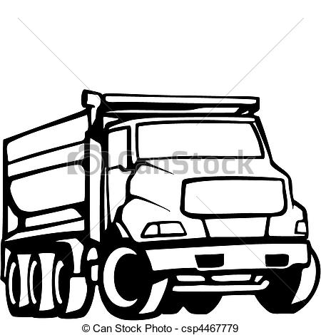 450x470 Semi Truck Vector Clipart
