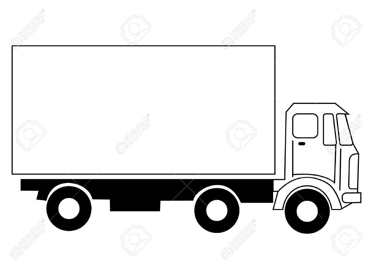 1300x975 Truck Clipart Black And White