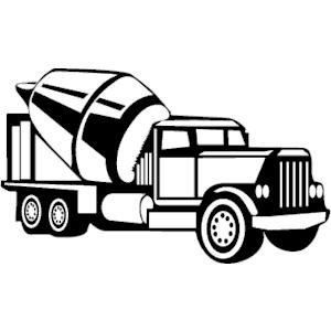 300x300 Cement clipart truck