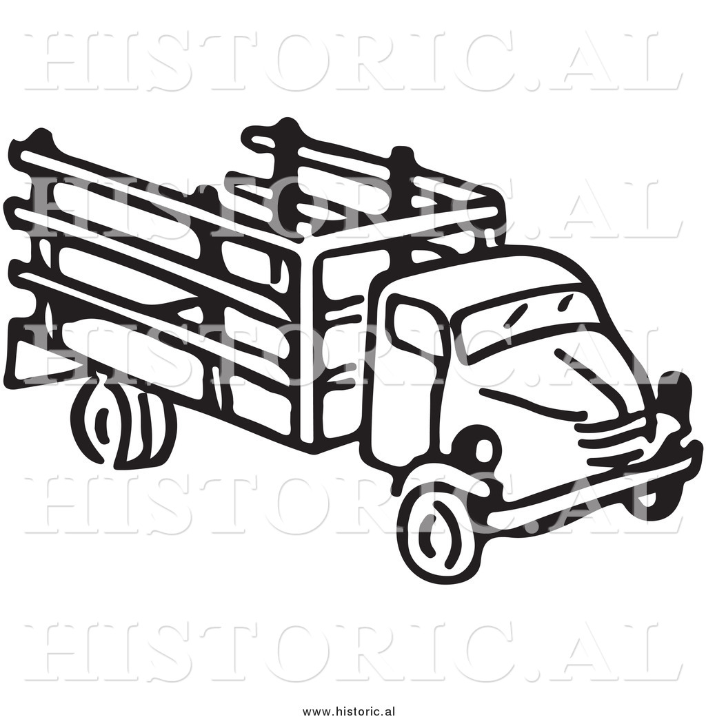 1024x1044 Clipart of an Old Farm Truck