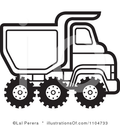 400x420 Dump Truck Clip Art Black White Cliparts