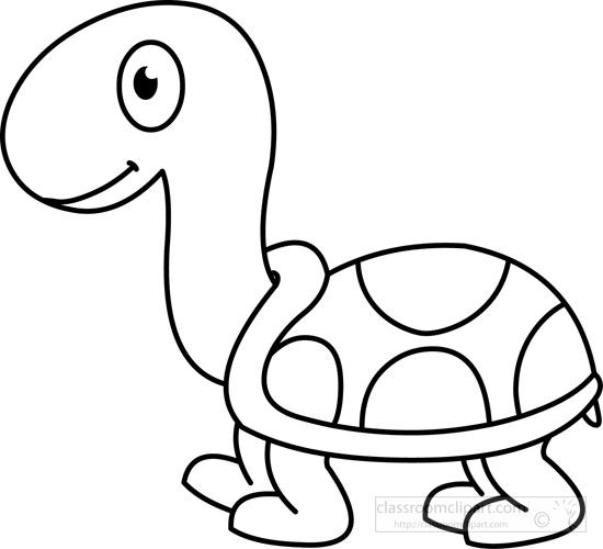 550x500 Turtle Black White Outline.jpg Clip Art Outlines