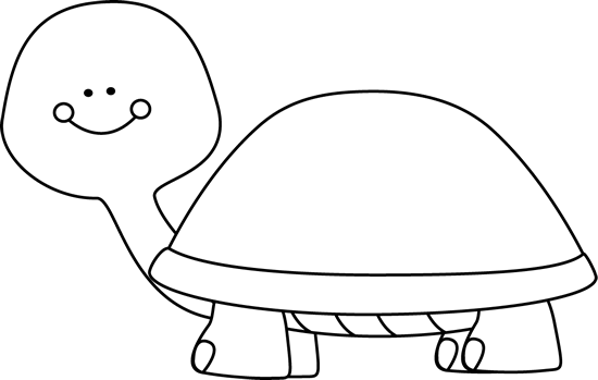 550x349 Black And White Blank Turtle Clip Art