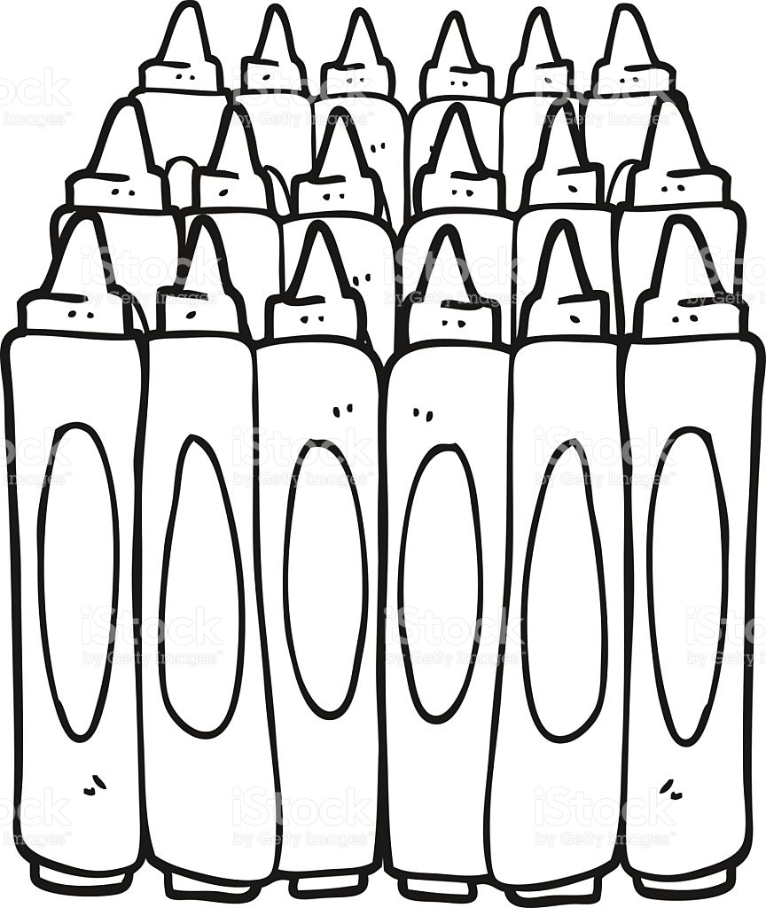 Black And White Crayon Clipart