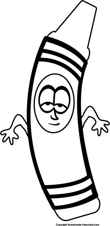 372x763 Preschool Crayon Clip Art Disnesclips