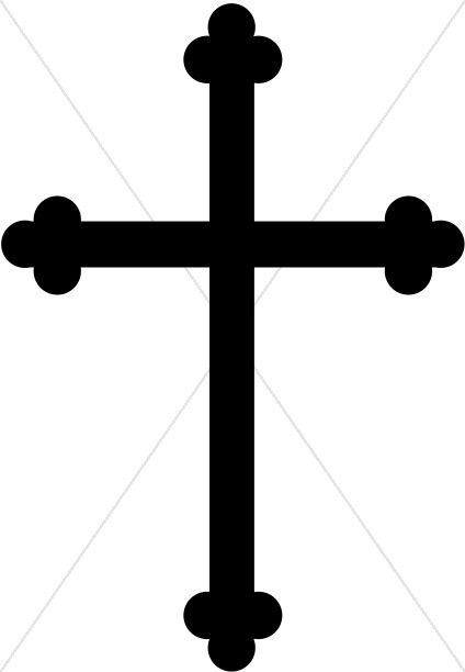 Black And White Cross