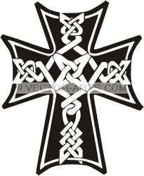 Black And White Cross Clipart