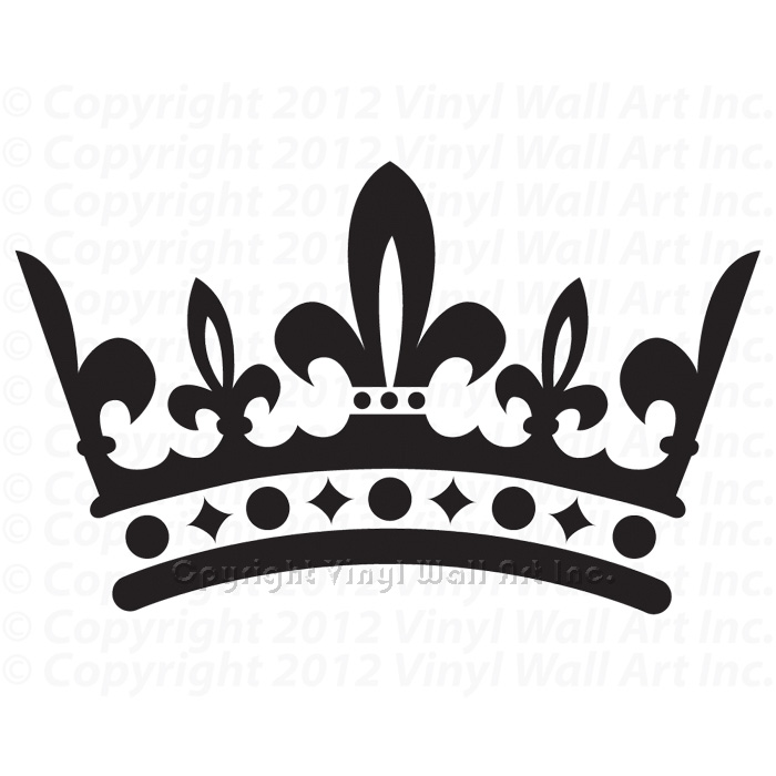 700x700 King Crown Clipart Black And White