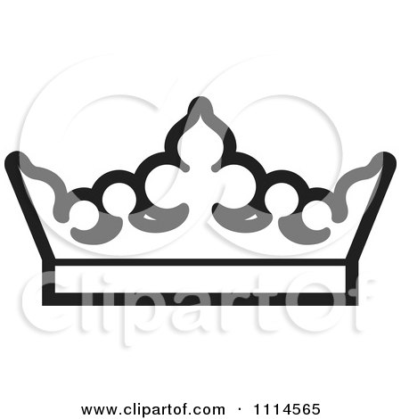 450x470 Clipart Black And White Crown