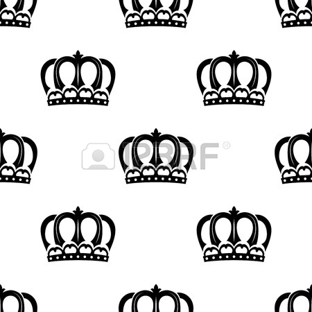 450x450 Royal Medieval Heraldic Crowns Set In Black And White Suitable
