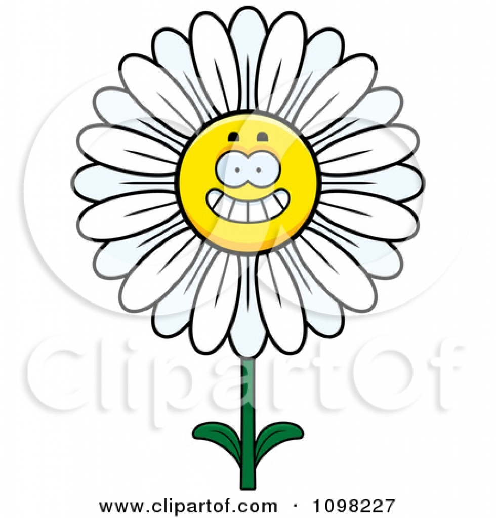 Black And White Daisy Clipart Free Download Best Black And White