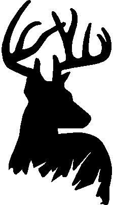 223x404 Deer Head Decal 44, Hunting Decals, Fishing Decals, Hunting