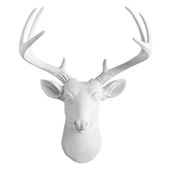 350x350 Mini Deer By Wall Charmers White Faux Head Mount