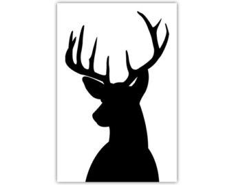 340x270 Deer Head Art Etsy