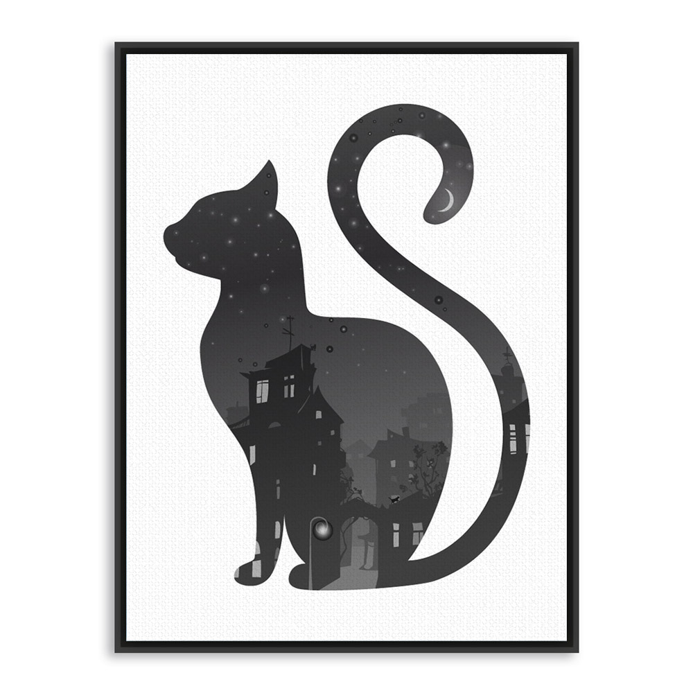 1000x1000 Vintage Black White Deer Head Animals Silhouette Art Print Poster