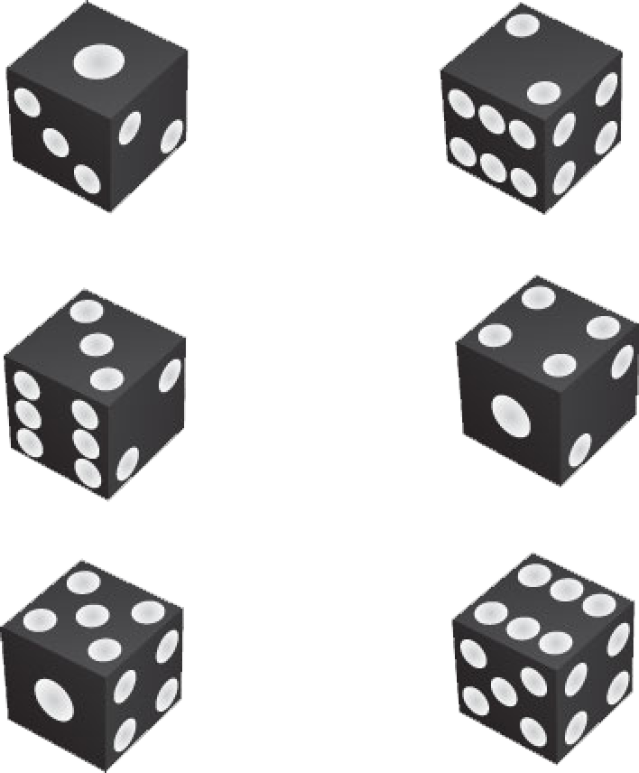 Black And White Dice Clipart