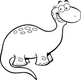 168x165 Black And White Dinosaur Clipart