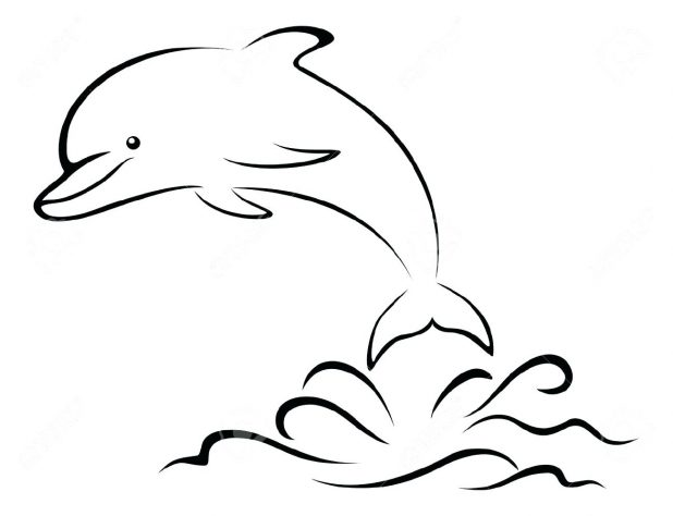 618x474 Click The Dolphins Logo Printable Pictures To Colour And Print