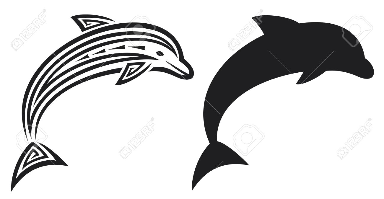 1300x674 Black And White Dolphin Tattoos Design Ideas Black And Grey
