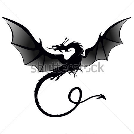 Black And White Dragon Tattoos Clipart