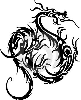 284x350 Black Dragon Chinese Dragons Black dragon, Dragons