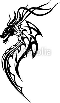 233x400 Drache, Tribal, Tattoo Tattoo Art Tattoo, Tribal