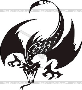 272x300 Dragon Black And White Clipart