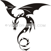 199x200 Simple Dragon Clip Art Note preview image contains watermark