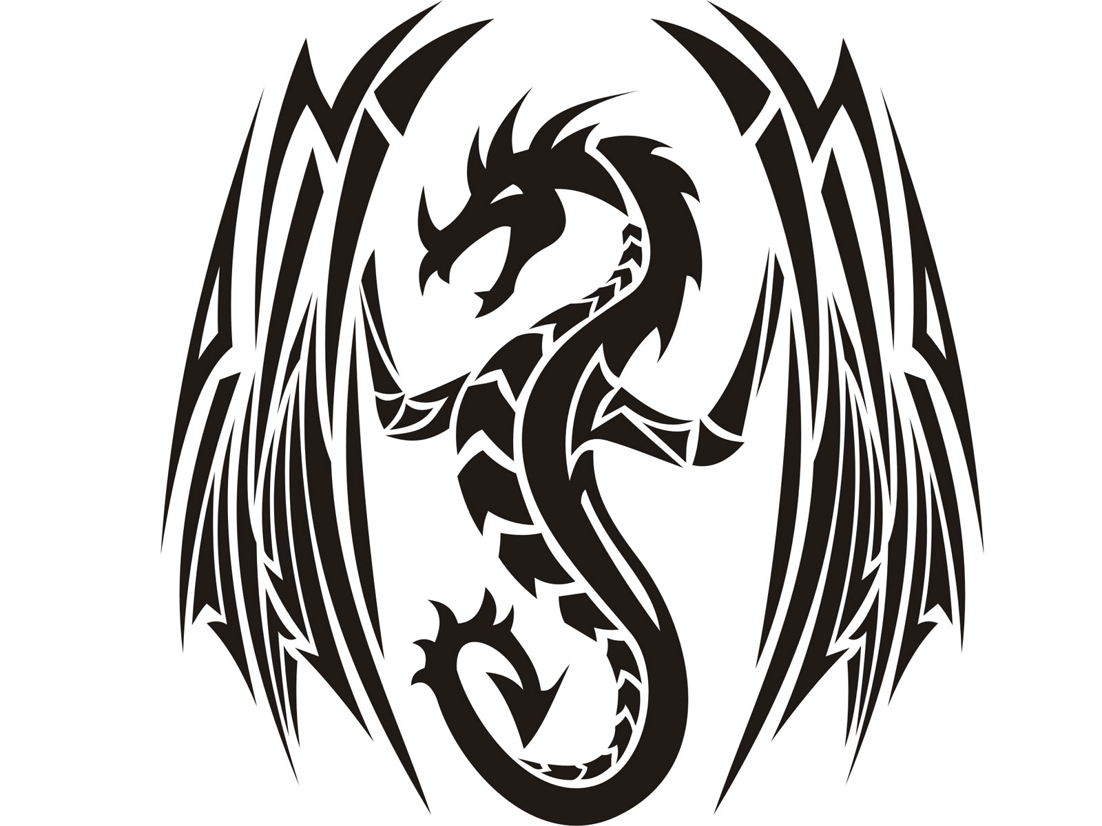 Black And White Dragon Tattoos Clipart Free Download Best Black